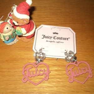 New With Tags Juicy Couture Heart/Crown Earrings